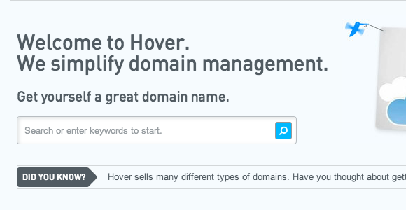 hover domain management