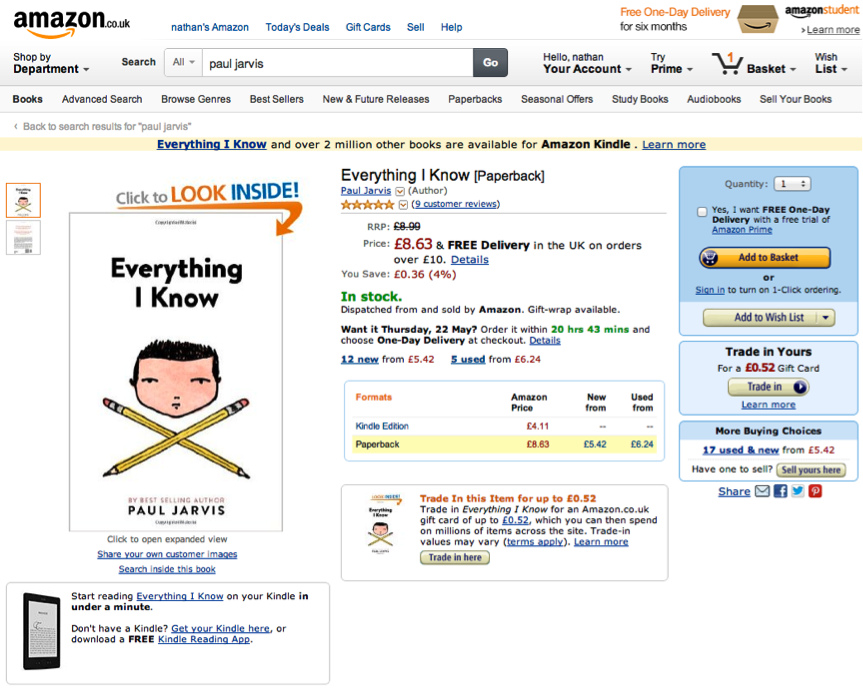 amazon checkout UX