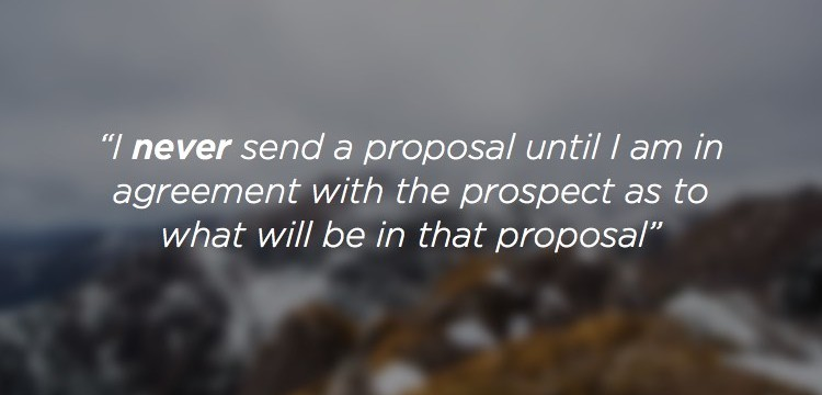 Common mistake when creating a proposal