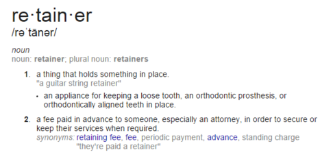 Meaning of Retainer