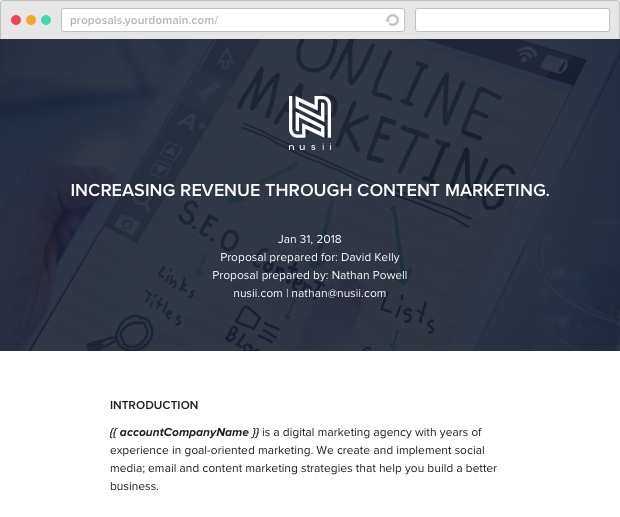 Nusii Content Marketing Template