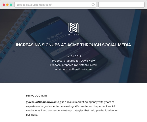 Nusii Social Media Template