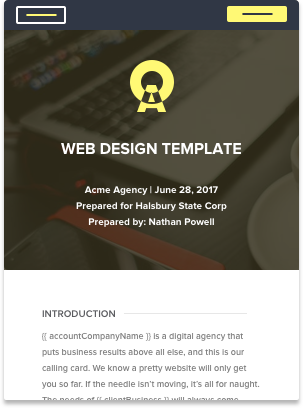 web design proposal template - Free Proposal Template